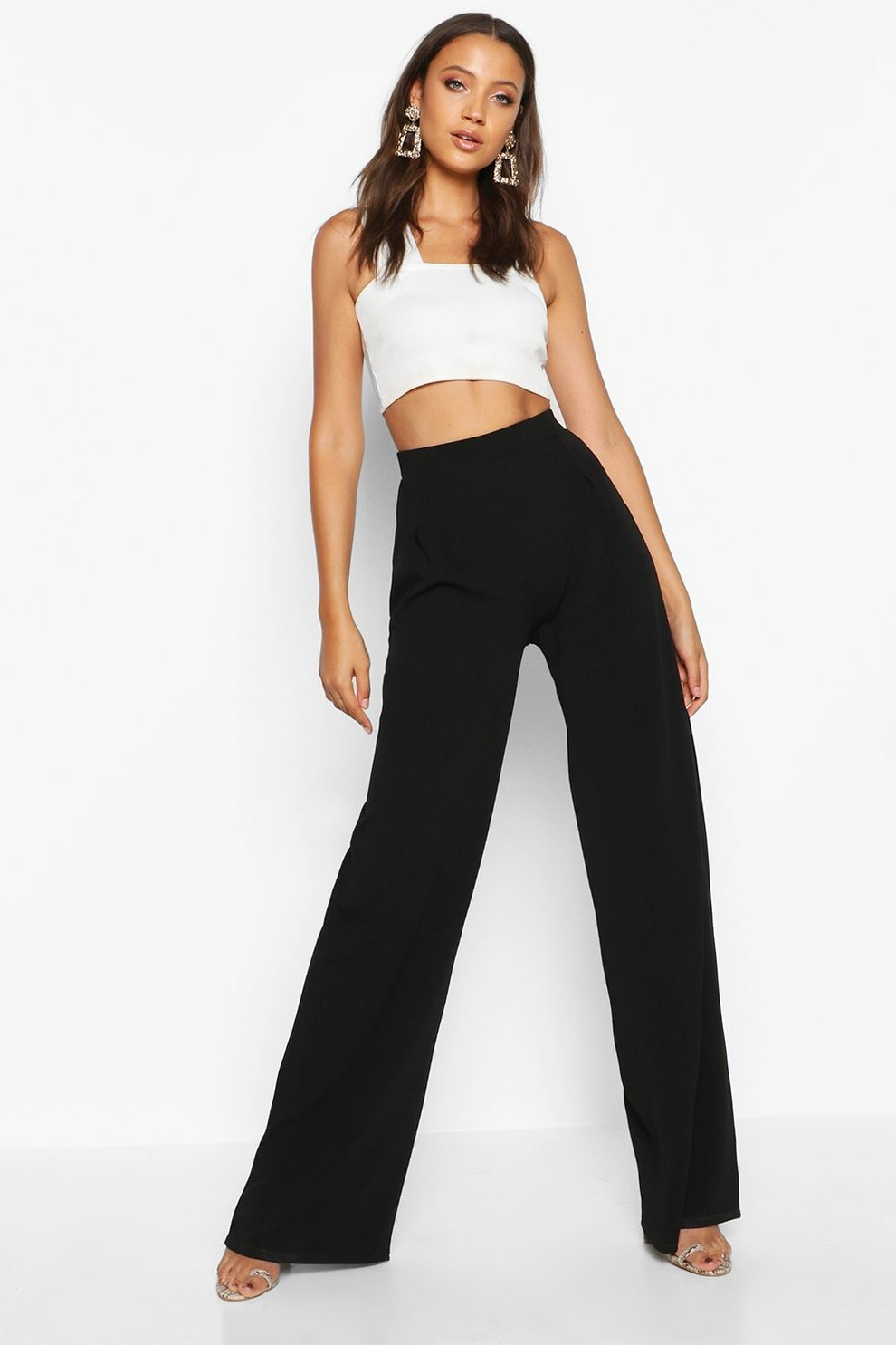 cd0f47e09afaf Tall Wide Leg Trouser | Boohoo