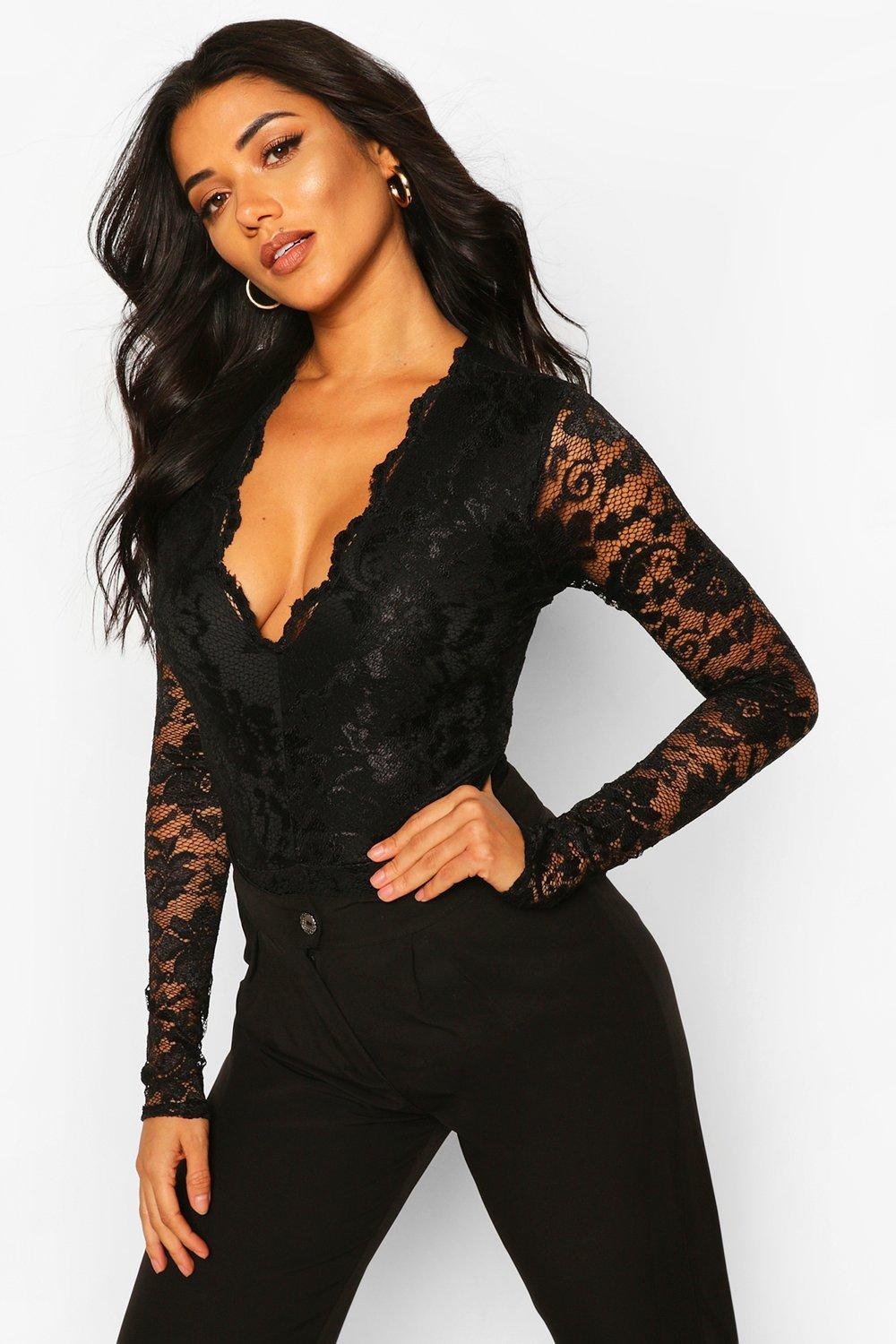 7d645e05a1 Tall Lace Long Sleeved Body. Hover to zoom