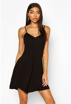 Black Tall Swing Romper