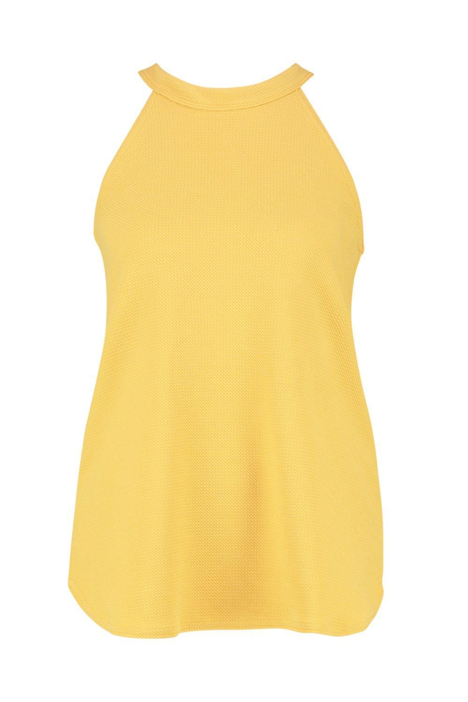 tirantes tall alto Top mustard cuello de con gqS5wB