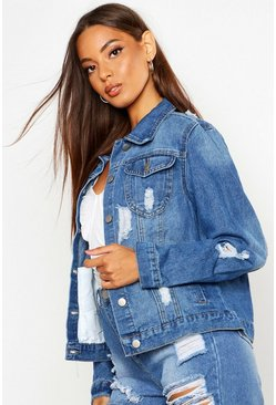 Pale blue Western Denim Jacket
