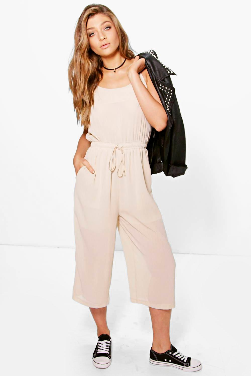 5b23cab098 Nia Chiffon Strappy Culotte Jumpsuit. Hover to zoom