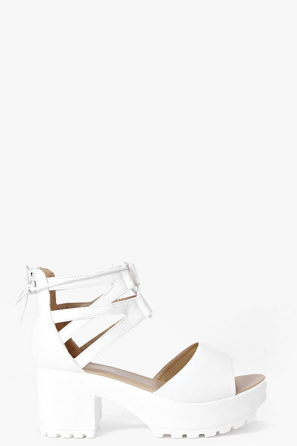 4e7812b9d811 Lace Up Two Part Cleated Sandals