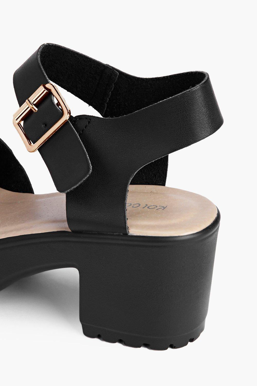 Boohoo Damen Zweiteilige Sandalen mit mit Sandalen Peeptoe und Profilsohle 8cf6cf