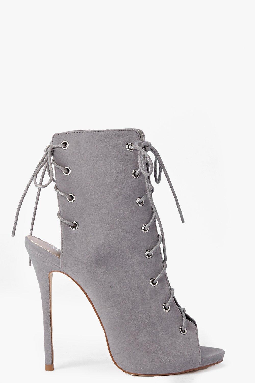 Faye Lace Up Peeptoe Shoe Boot  8b849c846f74