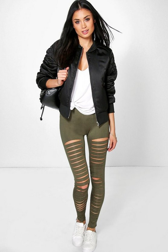 Amalia Split Front Basic Leggings