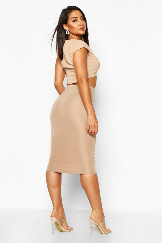 Basic Scuba Midi Skirt