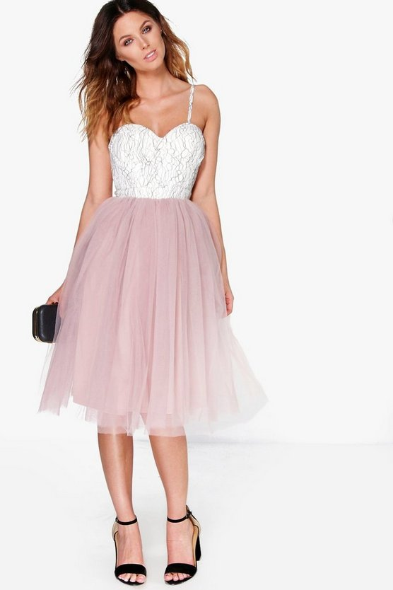 Boutique Ana Corded Lace Tulle Prom Dress