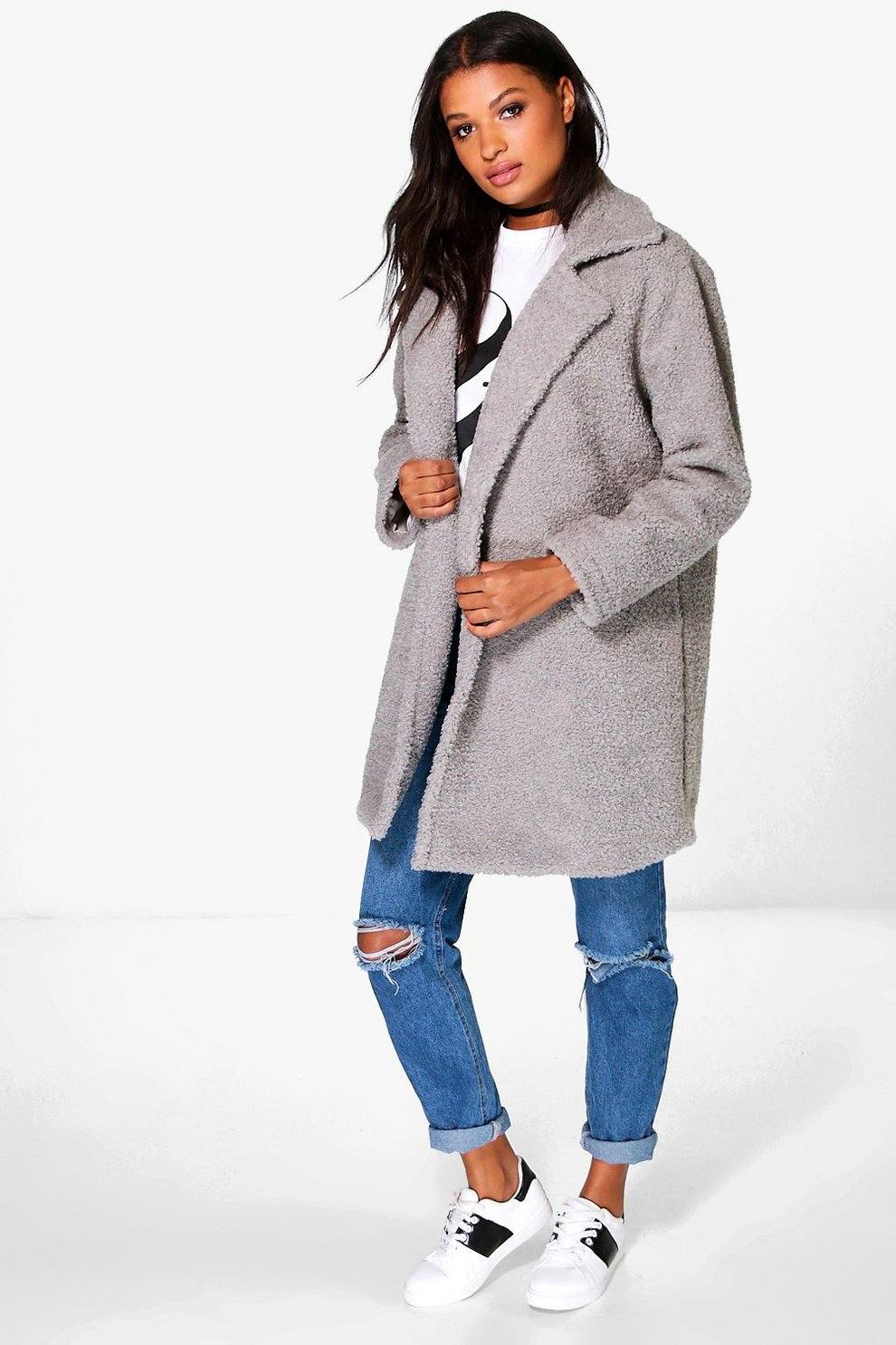 386e5665037 Boutique Teddy Faux Fur Chuck On Coat