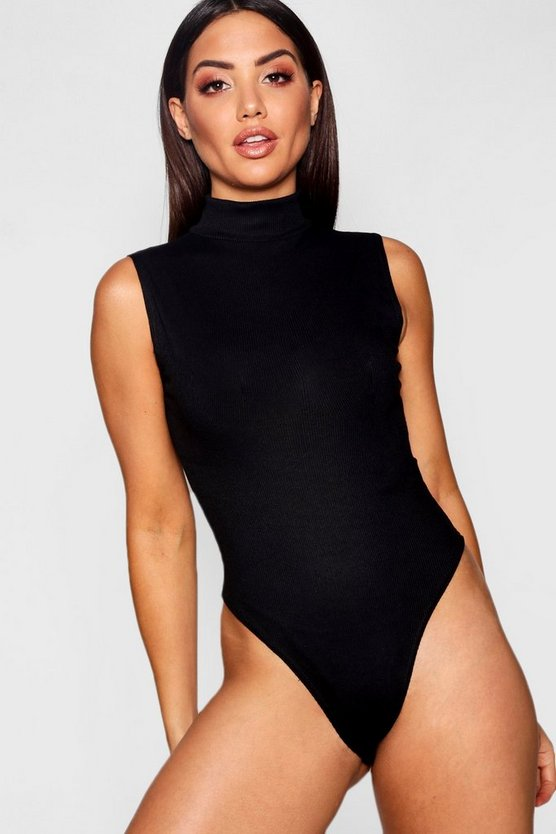 Ribbed Sleeveless Basic Bodysuit