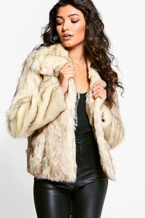 Boutique Jasmine Vintage Faux Fur Coat Boohoo