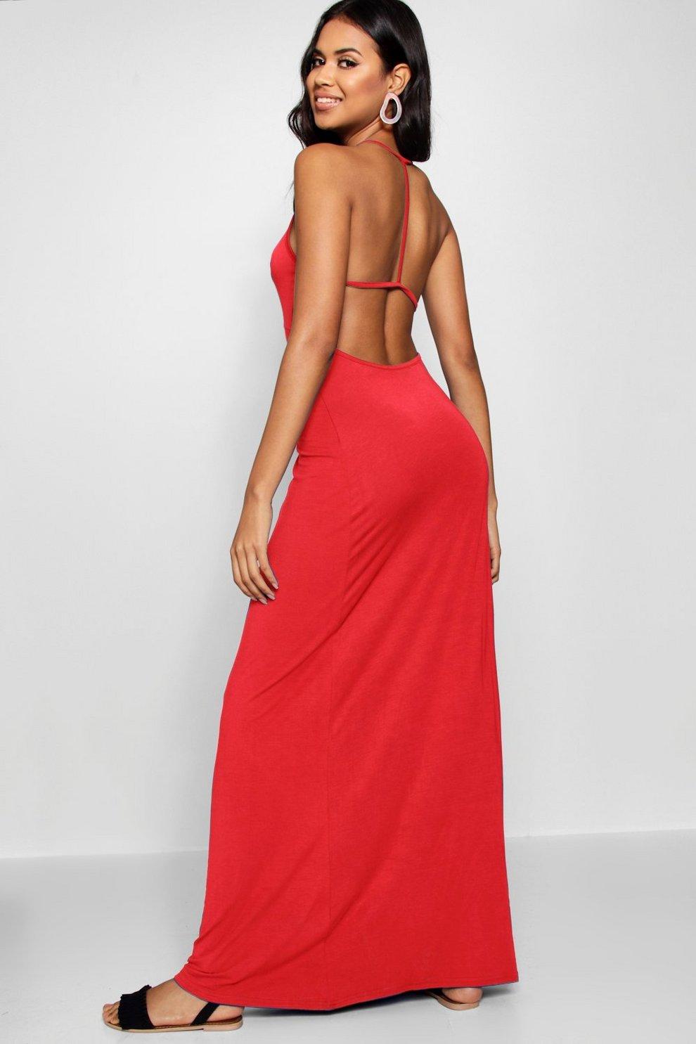 3c88ba715687 Strappy Back Maxi Dress   Boohoo