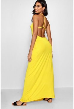 Womens Strappy Back Maxi Dress