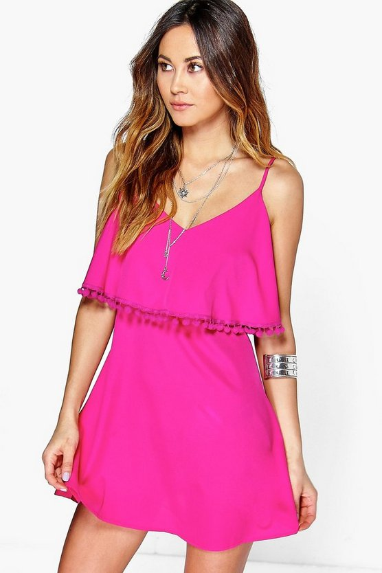 Pom Pom Double Layer Sundress