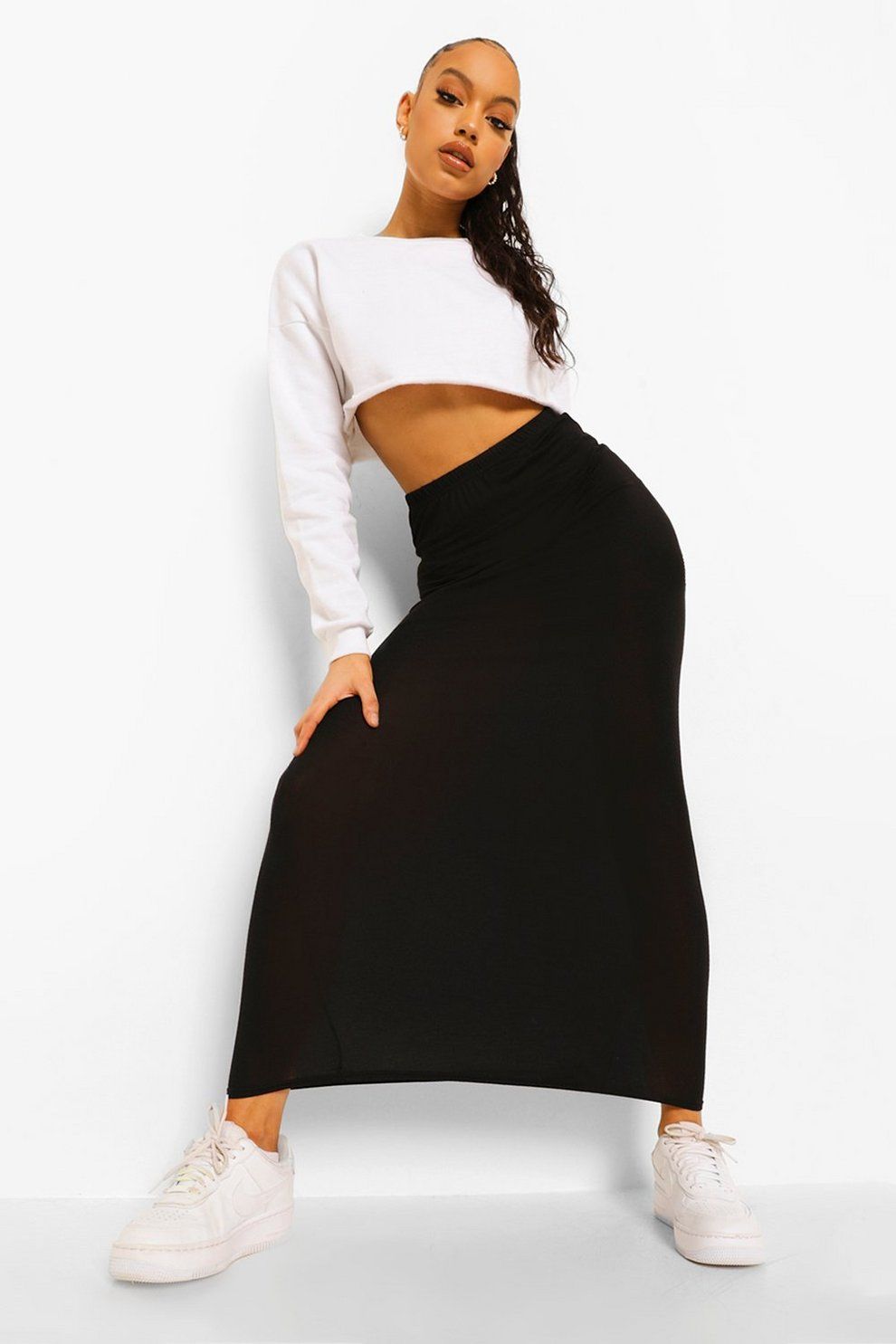 28602903ee9 Basic Jersey Maxi Skirt