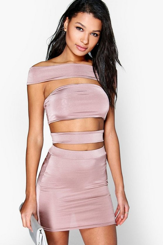 Off The Shoulder Strappy Co-Ord Set