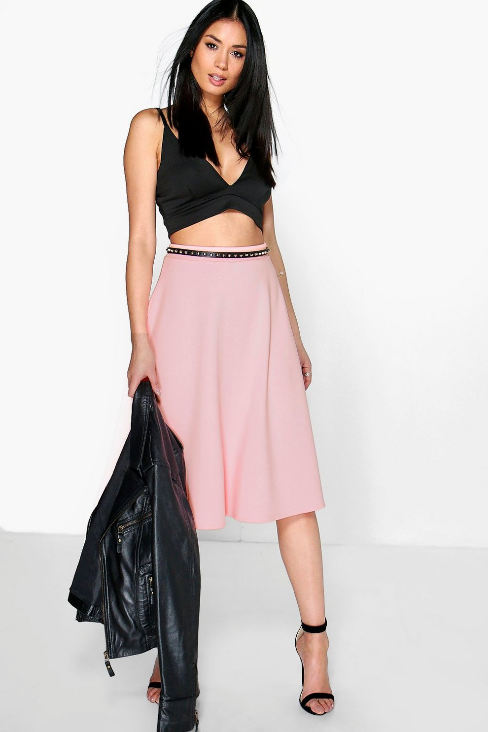 1bcba7705 Arianna Plain Full Circle Skater Skirt | Boohoo