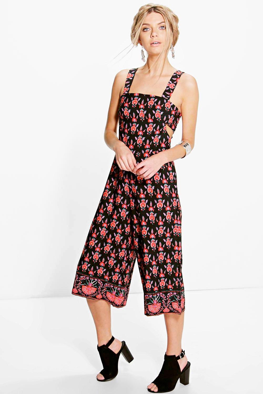 56ebfc1ec10 Lola Border Print Culotte Jumpsuit. Hover to zoom