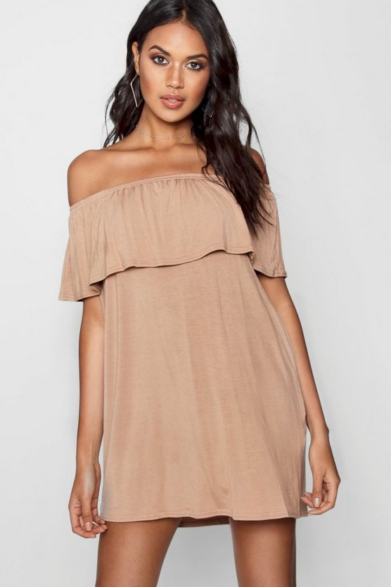 Off The Shoulder Swing Dress