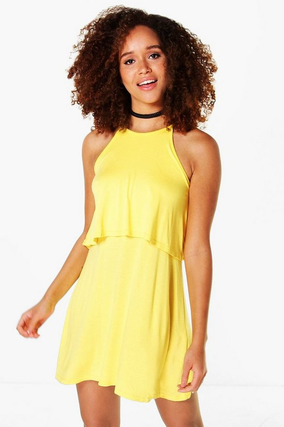 Aggy Sleeveless Double Layer Swing Dress