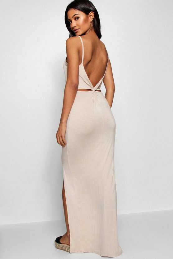 Knot Cross Back Maxi Dress