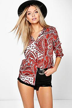 Vicky Paisley Woven Shirt