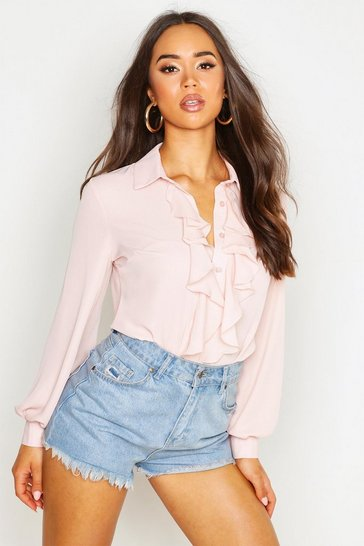 Blush Ruffle Detail Blouse