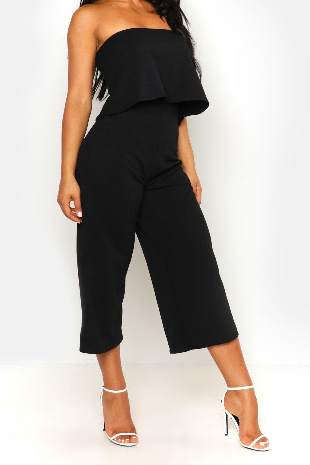 new boohoo womens cari bandeau top culottes co ord set in polyester ebay. Black Bedroom Furniture Sets. Home Design Ideas