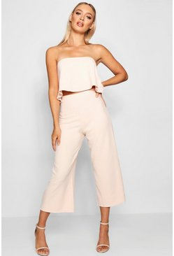 Blush Bandeau Top & Culottes Co-Ord Set