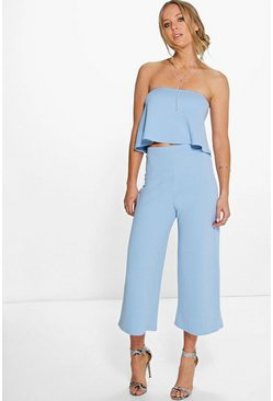 Sky Bandeau Top & Culottes Co-Ord Set