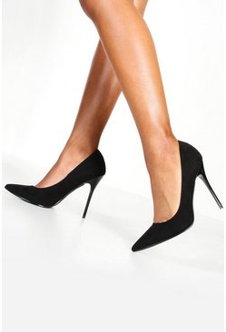 Womens Black Pointed Court Shoes