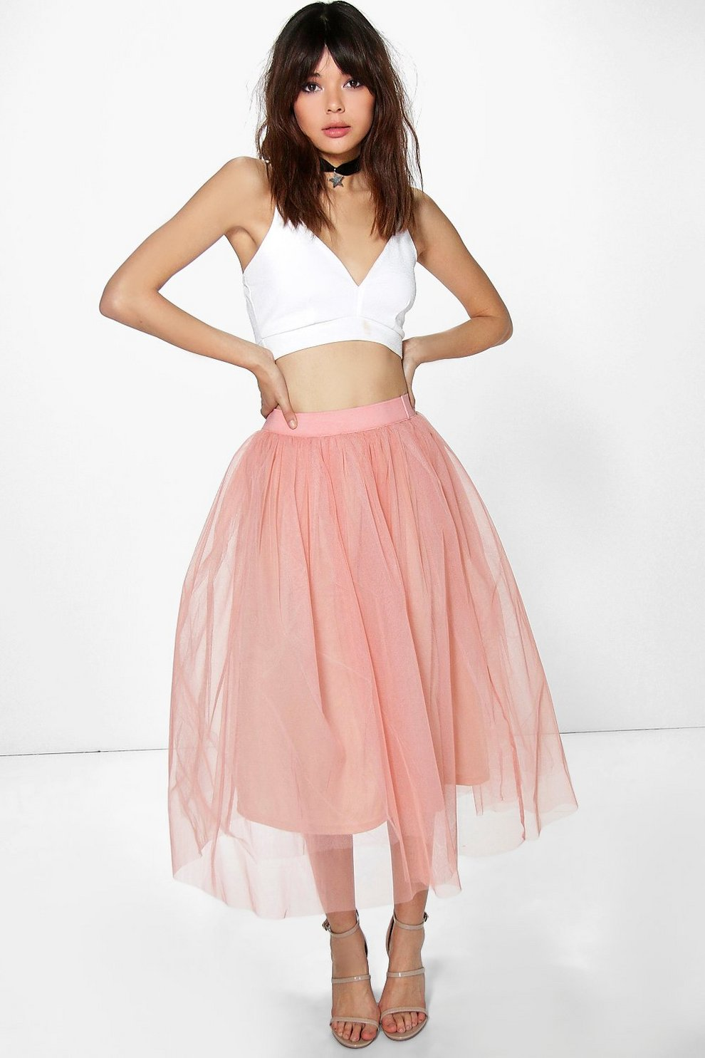 c3ac4a4a45f Boutique Aya Tulle Full Midi Skirt