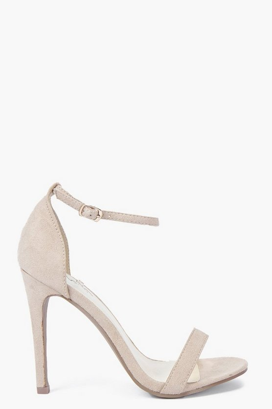 Womens Nude Two Part Stiletto Heels