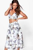 8f3c154afcea ... Womens Multi Vaida Floral Full Midi Skirt & Bralet Co-Ord Set  alternative image