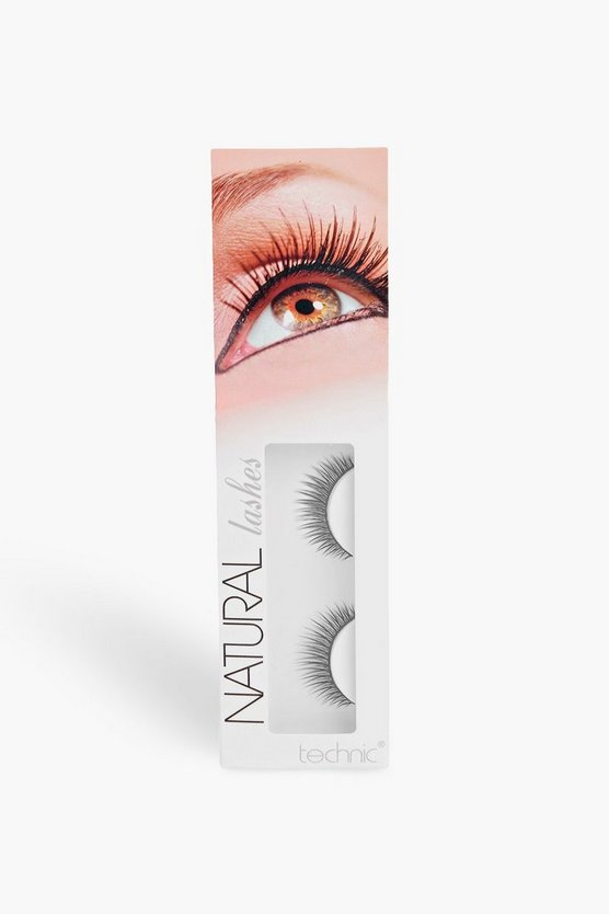 Womens Black Technic Natural False Eyelashes