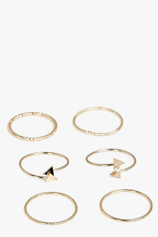 Martha Gold Arrow Skinny Ring Set