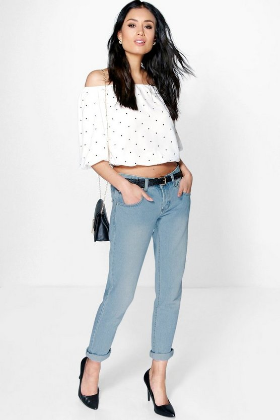 Lilly Low Rise Light Wash Boyfriend Jeans