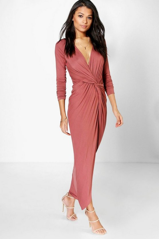 Drape Ruched Maxi Dress