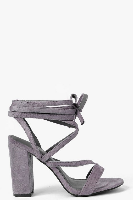 Wrap Strap Two Part Block Heels