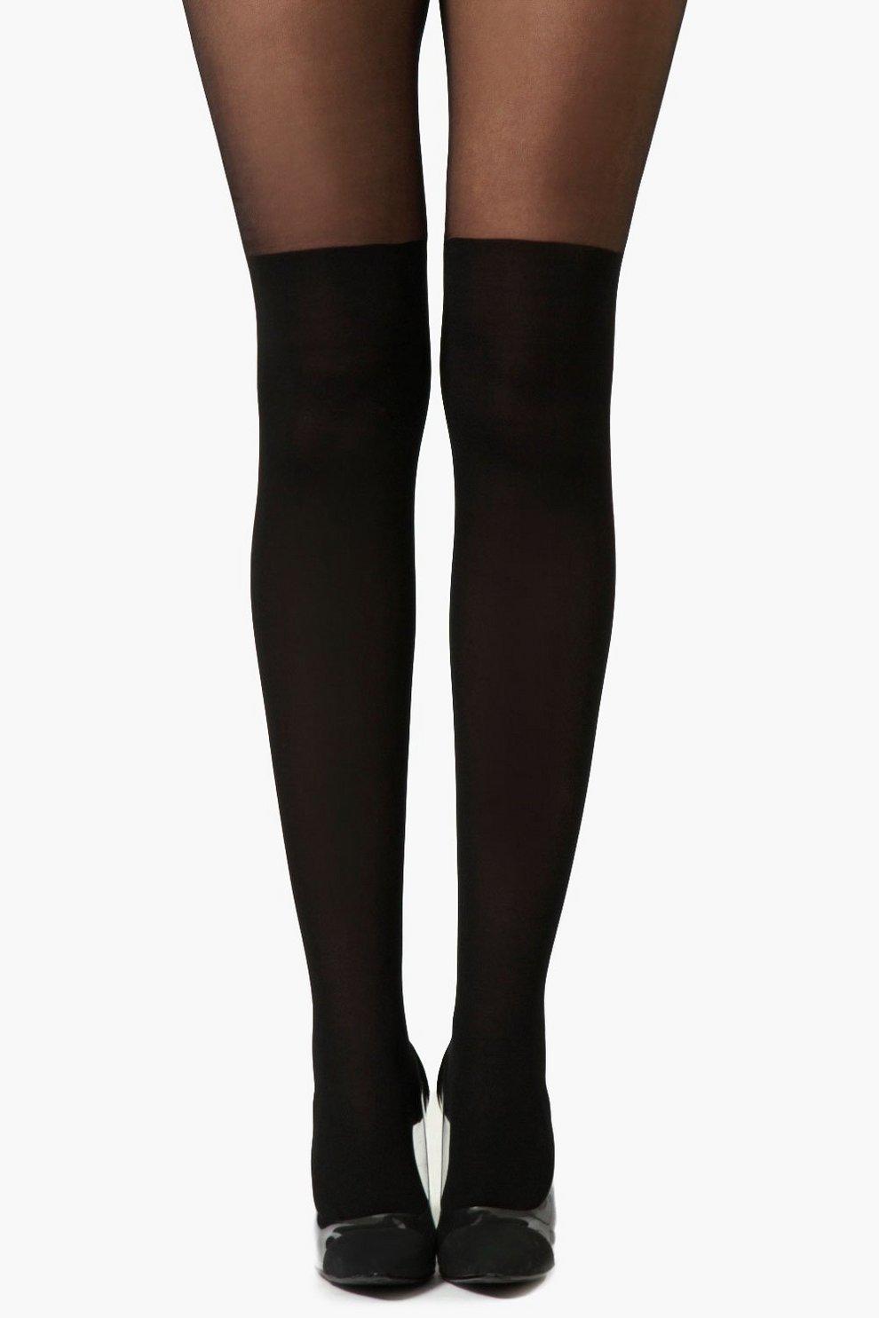15895d9224 Tina Over Knee Tights | Boohoo