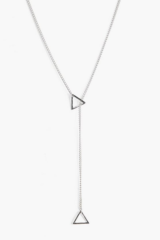 Triangle Plunge Necklace