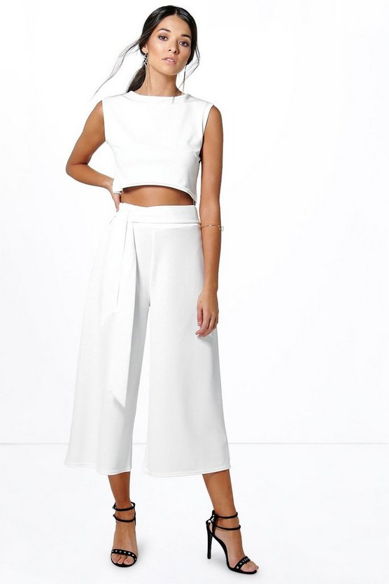 Mia Tie Front Culotte & Boxy Top Co-Ord Set