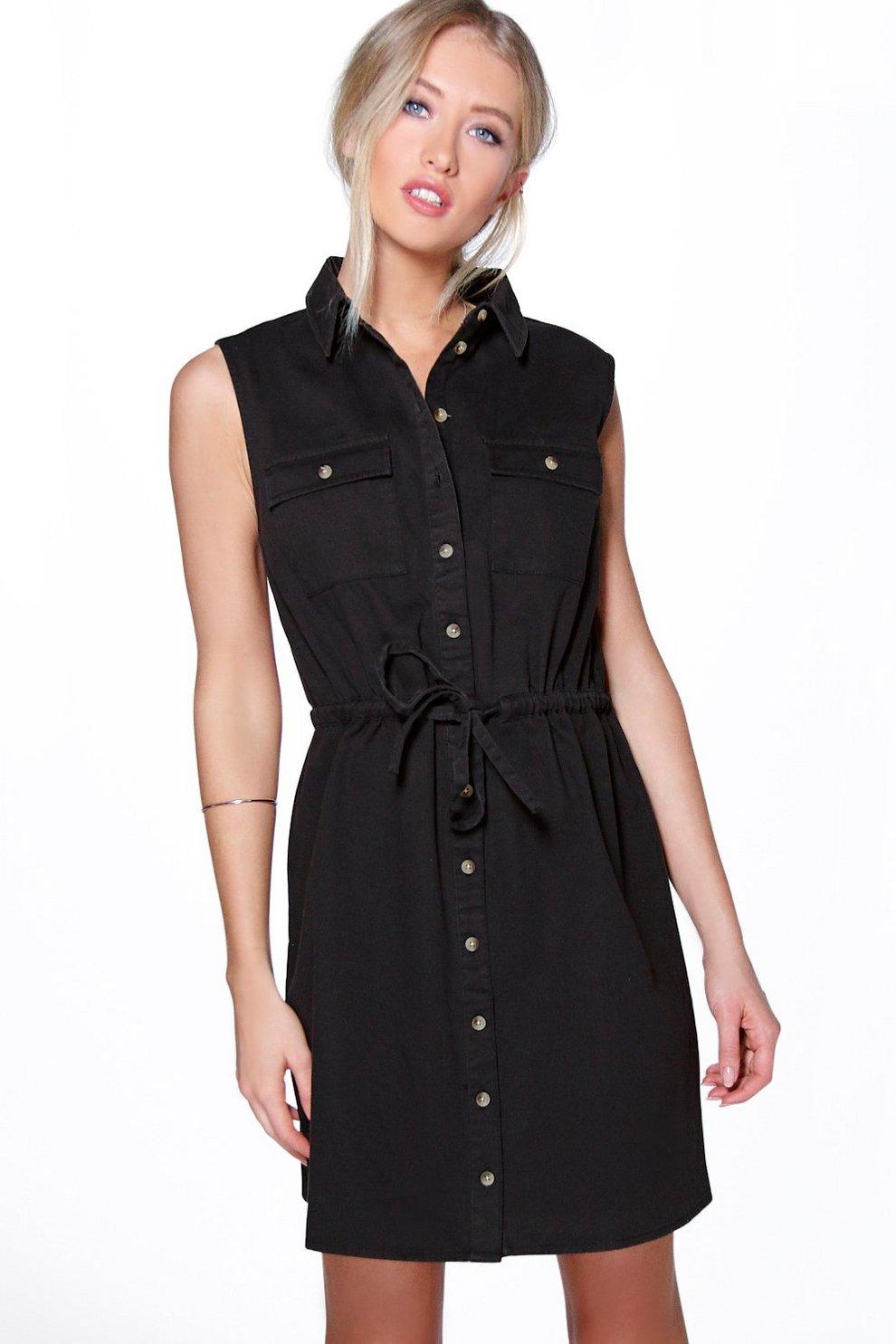 7eb0ddc751 Arianna Utility Shirt Dress | Boohoo
