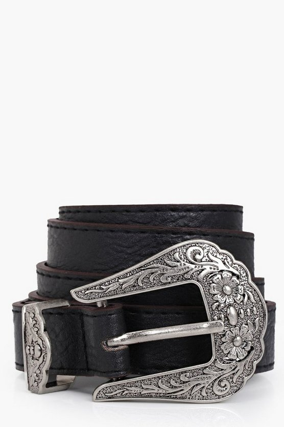 Western Buckle Boyfriend Belt