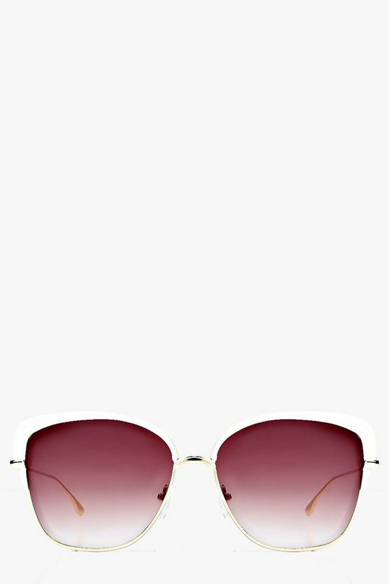 Womens Brown Heidi Retro Sunglasses