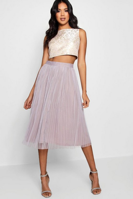 Boutique Jacquard Top Midi Skirt Co-Ord Set