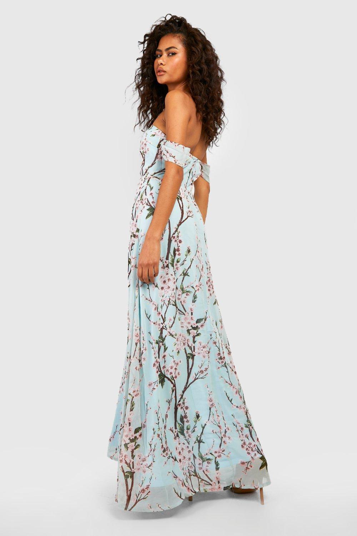 Long Off the Shoulder Maxi Dresses
