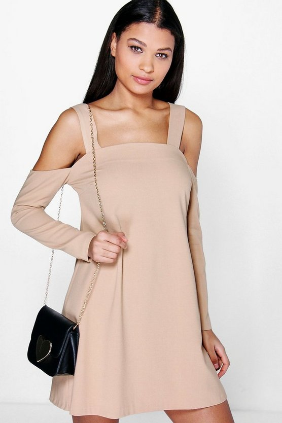 Paulina Cold Shoulder Pinafore Dress