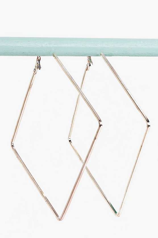 Lucy Square Angle Hoop Earrings