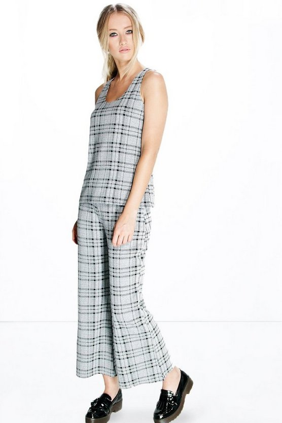 Harriet Check Crop Trouser